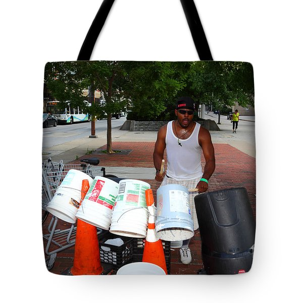 Beating The Recession Tote Bag by James Brunker