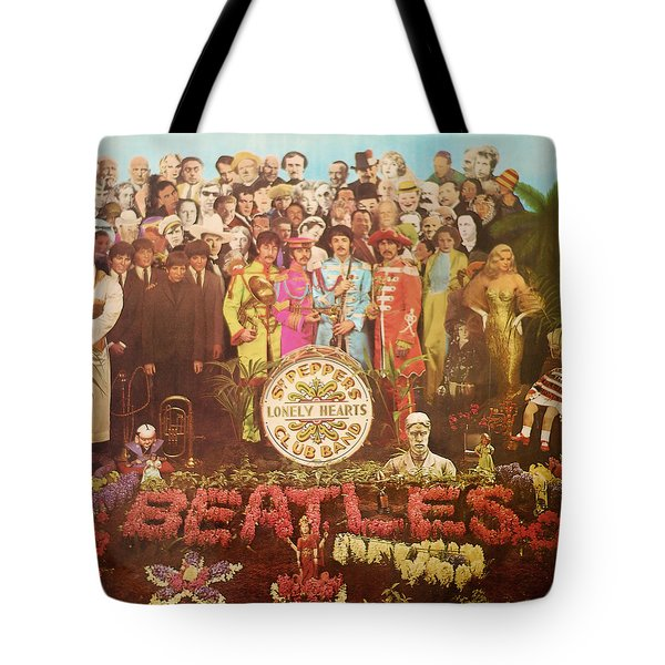 Beatles Lonely Hearts Club Band Tote Bag