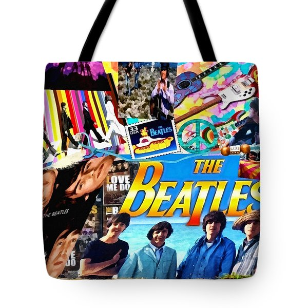 Beatles For Summer Tote Bag by Mo T