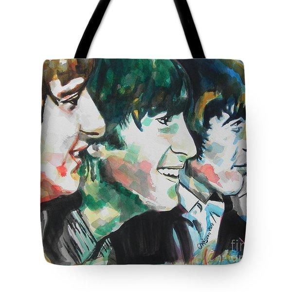 The Beatles 02 Tote Bag by Chrisann Ellis