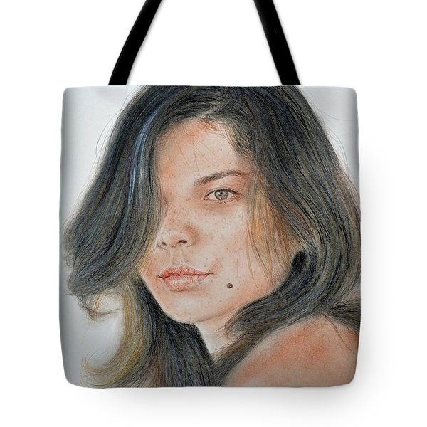 Beautiful And Sexy Actress Jeananne Goossen IIi  Tote Bag by Jim Fitzpatrick