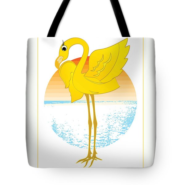 Beautiful Is The Flamingo Tote Bag by Stanley Mathis