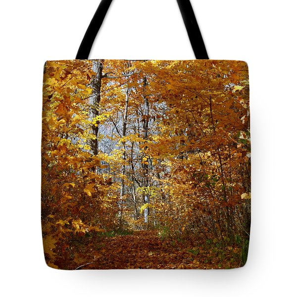 Beautiful Autumn Sanctuary Tote Bag by Kay Novy