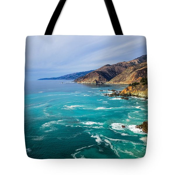 Tote Bag featuring the photograph Beautiful Big Sur With Bixby Bridge by Priya Ghose