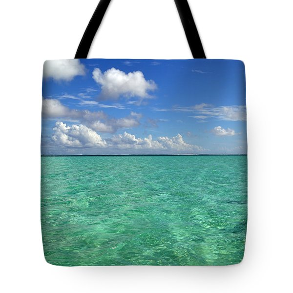 Beautiful Bora Bora Green Water And Blue Sky Tote Bag by Eva Kaufman