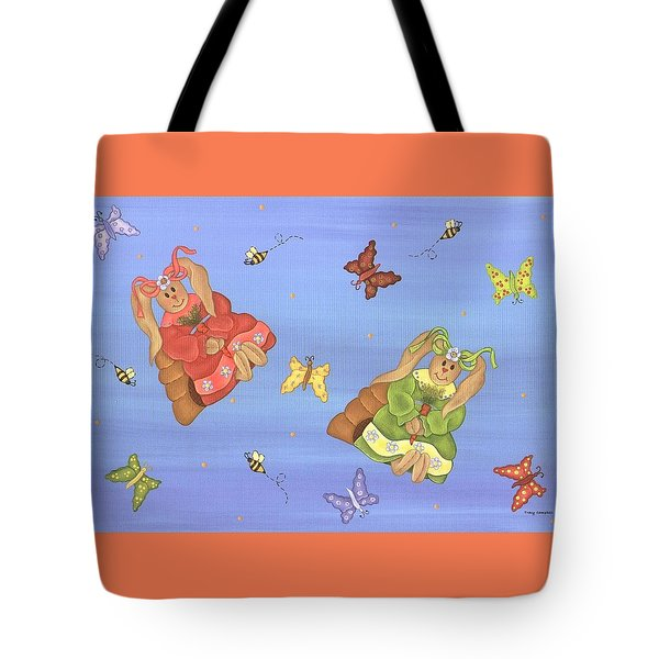 Beautiful Bunnies Tote Bag by Tracy Campbell