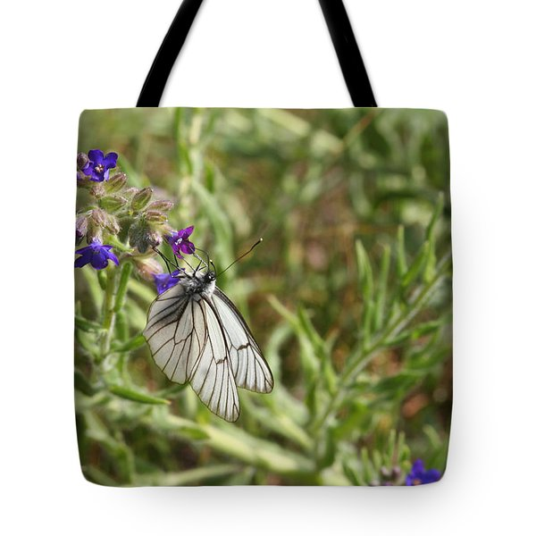 Beautiful Butterfly In Vegetation Tote Bag