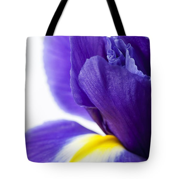 Beautiful Dark Purple Iris Flower Tote Bag
