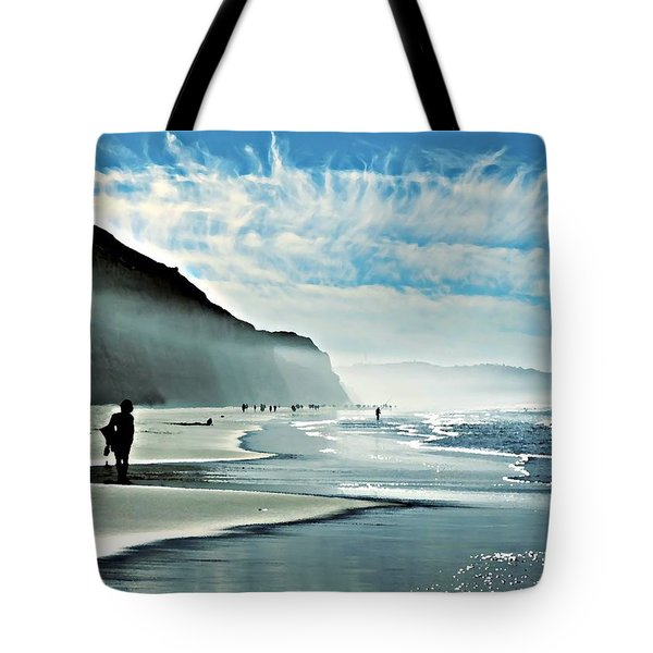 Another Beautiful Day At The Beach Tote Bag by Sharon Soberon