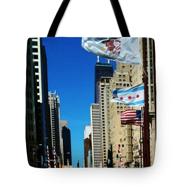Beautiful Day In Chicago Tote Bag