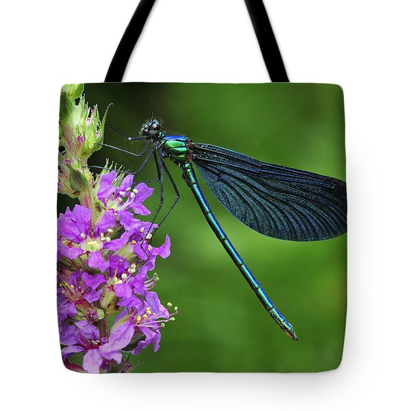 Beautiful Demoiselle Male Switzerland Tote Bag by Thomas Marent