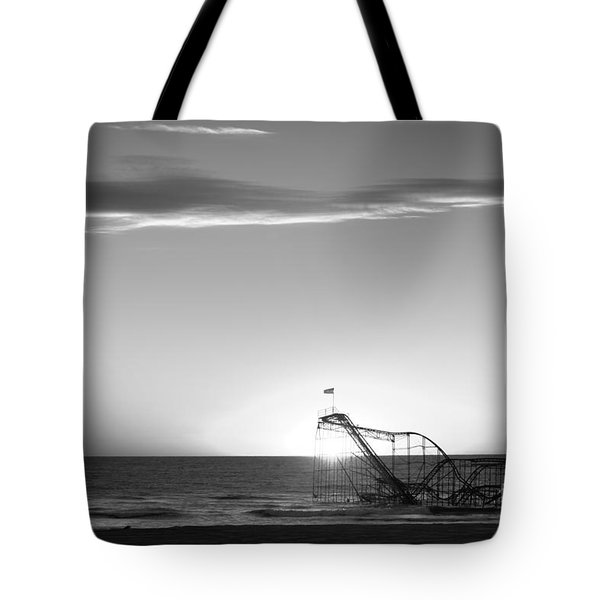 Beautiful Disaster Bw Tote Bag by Michael Ver Sprill