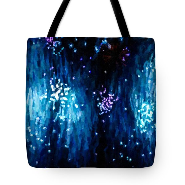 Beautiful Fireworks  1 Tote Bag by Lanjee Chee