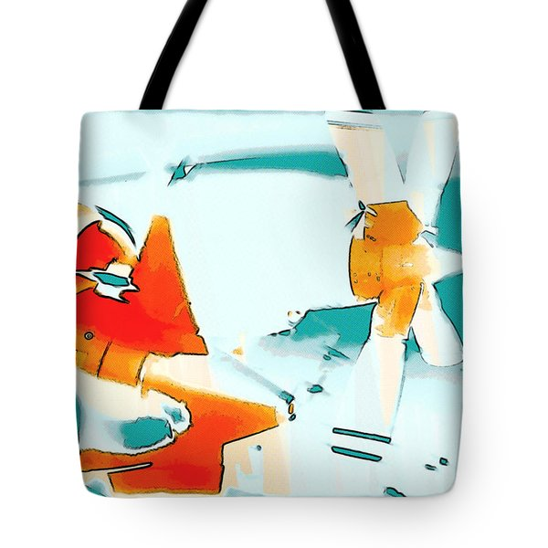 Tote Bag featuring the photograph Fixed Wing Aircraft Pop Art by R Muirhead Art