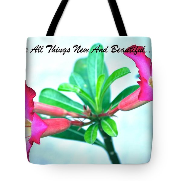 Tote Bag featuring the photograph Beautiful Flower by Lorna Maza