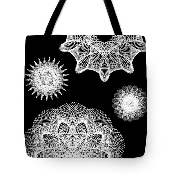 Beautiful Geometry Bw Tote Bag by Angelina Vick
