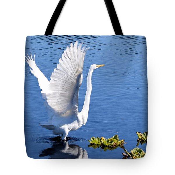 Beautiful Grest White Egret Tote Bag