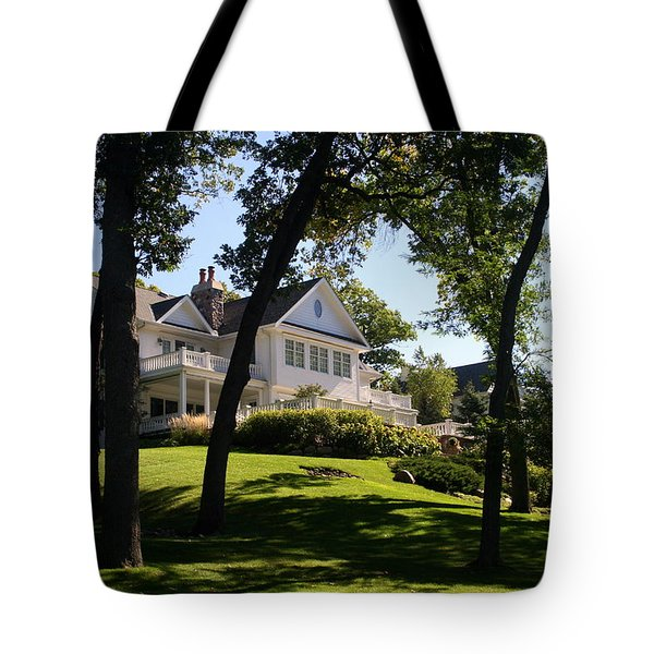 Beautiful Hillside Home Tote Bag by Kay Novy