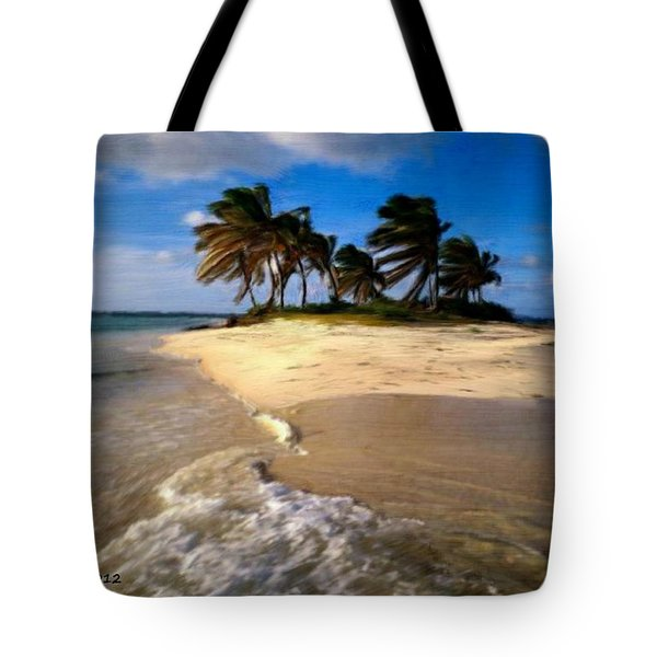 Tote Bag featuring the painting Beautiful Island by Bruce Nutting