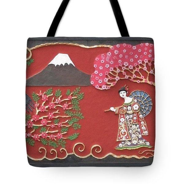 Beautiful Japan Tote Bag by Otil Rotcod