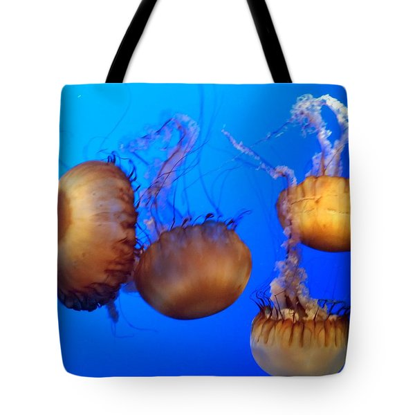 Beautiful Jellyfish Tote Bag by Janice Spivey