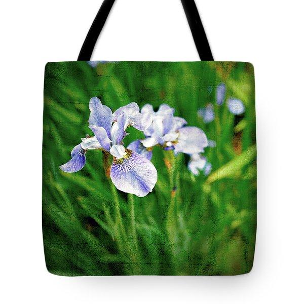 Beautiful Louisiana Hybrid Iris Tote Bag by Marianne Campolongo