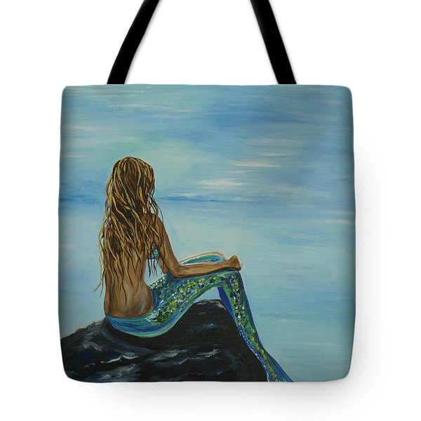 Beautiful Magic Mermaid Tote Bag by Leslie Allen