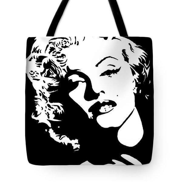 Tote Bag featuring the painting Beautiful Marilyn Monroe Original Acrylic Painting by Georgeta  Blanaru