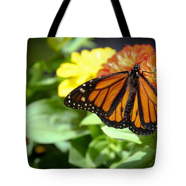 Tote Bag featuring the photograph Beautiful Monarch Butterfly by Patrice Zinck