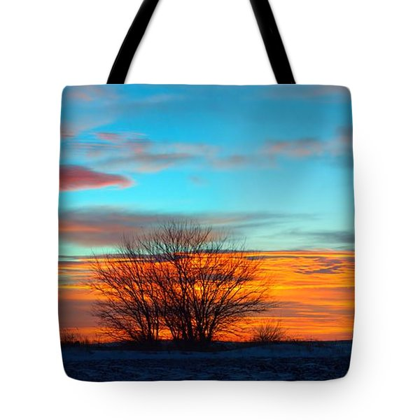Beautiful Mornin' Panorama Tote Bag by Bonfire Photography