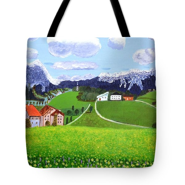 Tote Bag featuring the painting Beautiful Norway by Magdalena Frohnsdorff