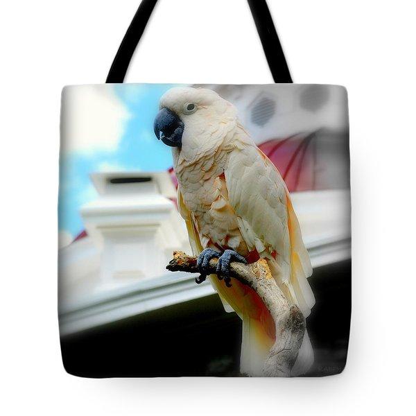 Beautiful Salmon-crested Cockatoo Tote Bag