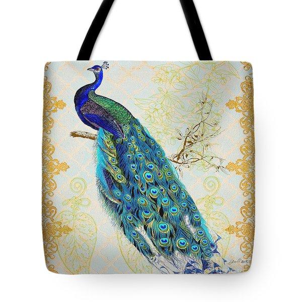 Beautiful Peacock-b Tote Bag by Jean Plout