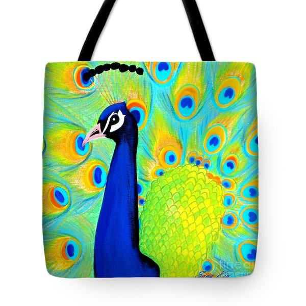 Beautiful Peacock Card Tote Bag