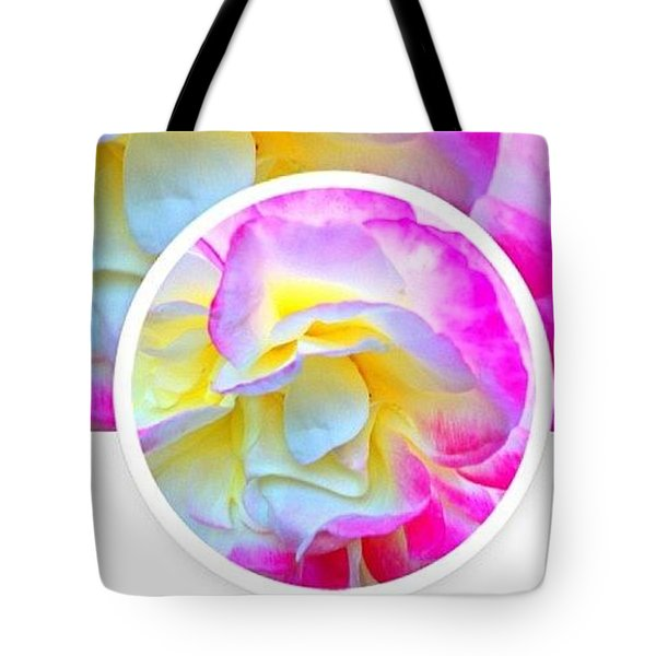 Beautiful Pink And Yellow Rose Tote Bag