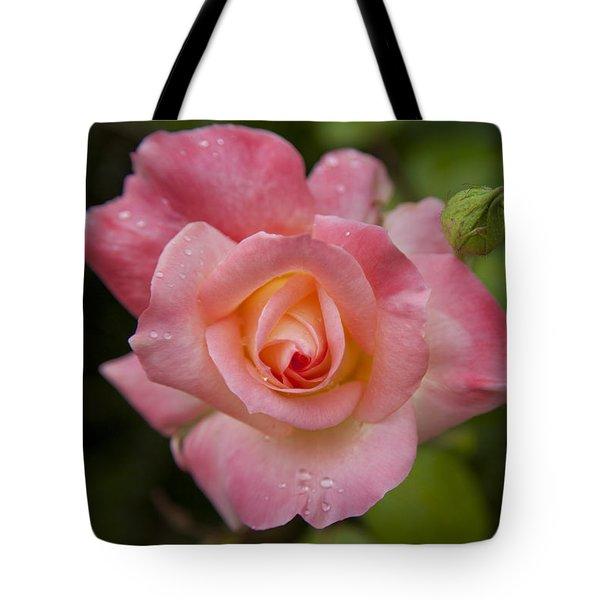 Shades Of Pink And Green Tote Bag