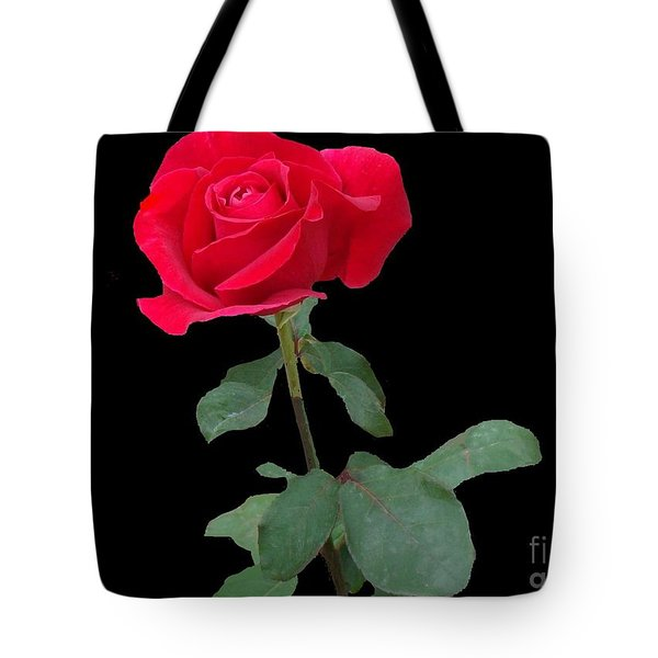 Beautiful Red Rose Tote Bag