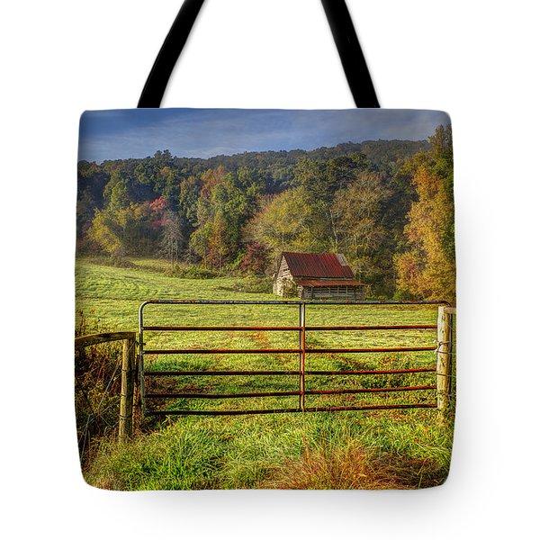 Beautiful Reds Of Autumn Tote Bag by Debra and Dave Vanderlaan