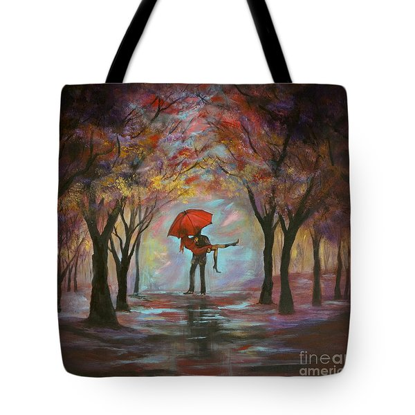 Beautiful Romance Tote Bag by Leslie Allen