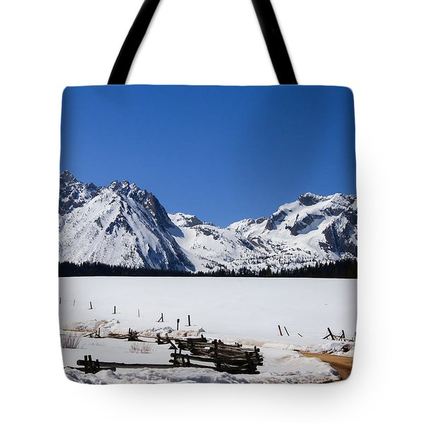 Beautiful Sawtooth Mountains Tote Bag by Robert Bales