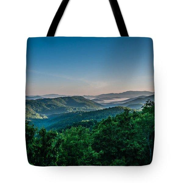 Beautiful Scenery From Crowders Mountain In North Carolina Tote Bag
