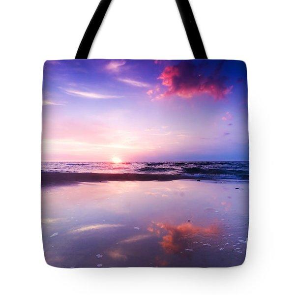 Beautiful Sea Sunrise Tote Bag by Michal Bednarek