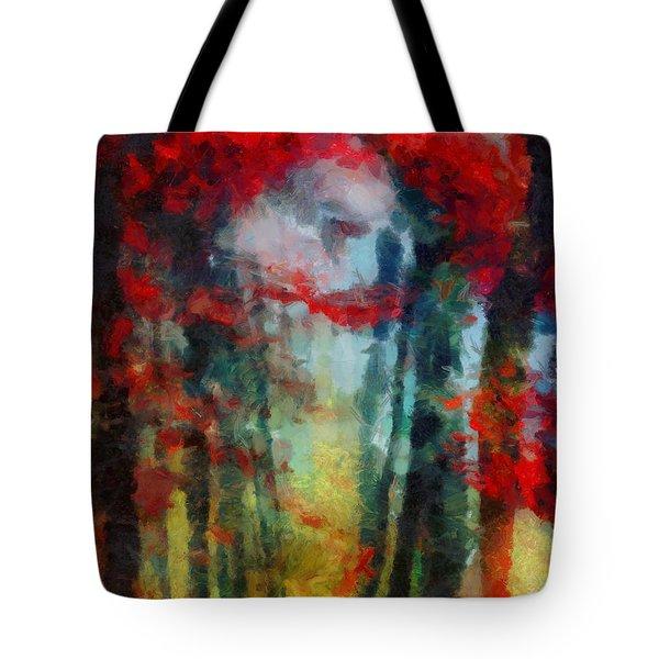 Tote Bag featuring the painting Beautiful Secrets by Joe Misrasi