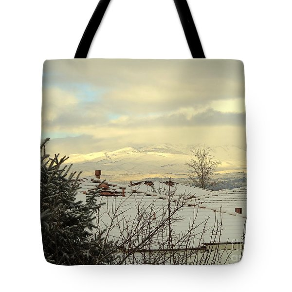 Beautiful Sparkling Snow Tote Bag by Phyllis Kaltenbach