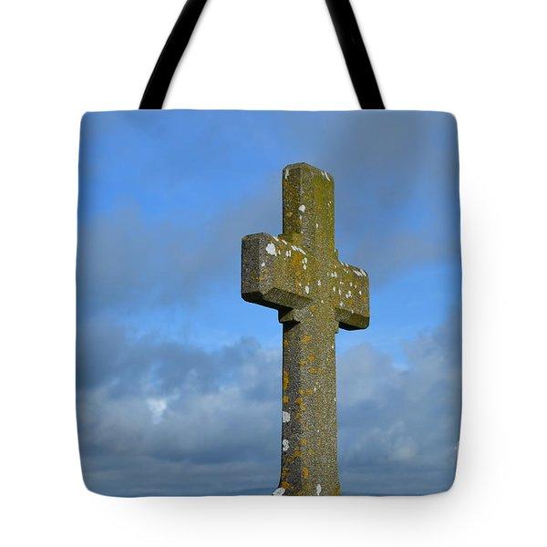Beautiful Stone Cross In Ireland Tote Bag by DejaVu Designs
