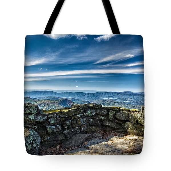 Beautiful View Of Mountains And Sky Tote Bag