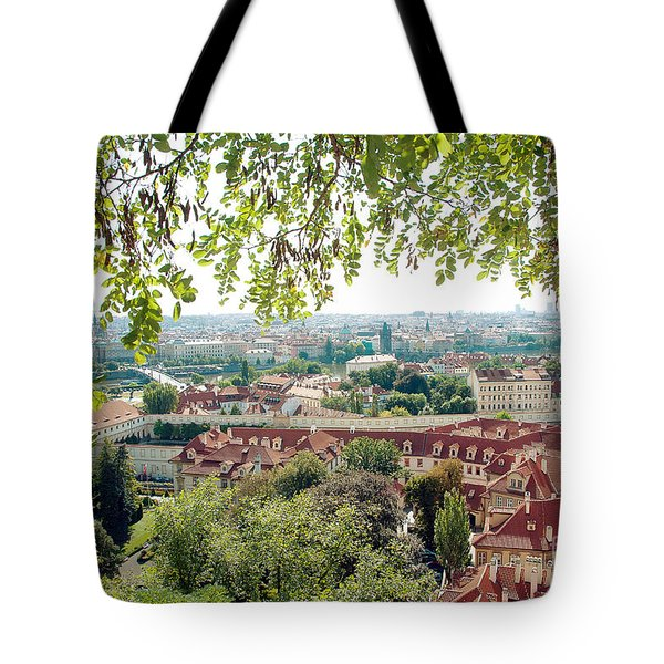 Beautiful View Of Prague Tote Bag by Ivy Ho