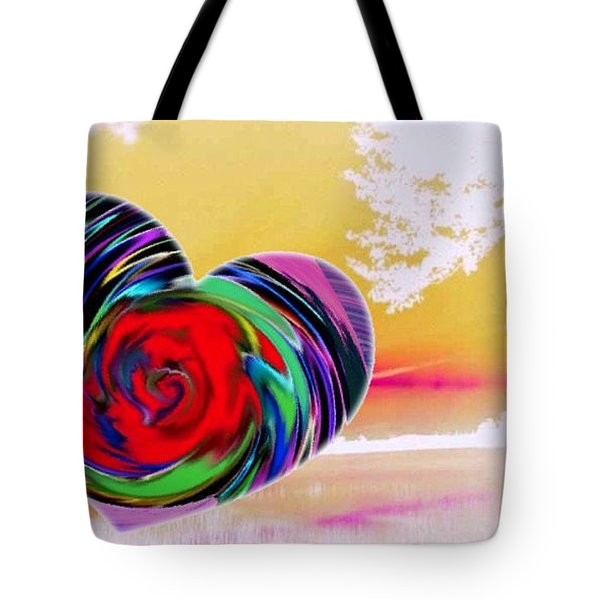 Tote Bag featuring the digital art Beautiful Views Exist by Catherine Lott