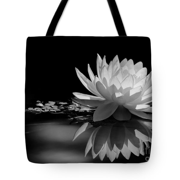 Tote Bag featuring the photograph Beautiful Water Lily Reflections by Sabrina L Ryan