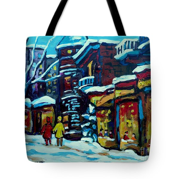 Beautiful Winter Evening Tote Bag by Carole Spandau